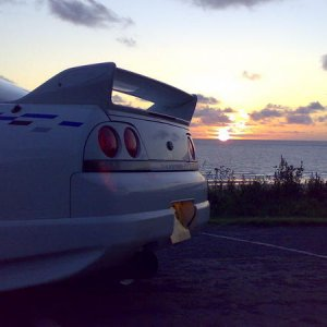 Skyline rear sunset